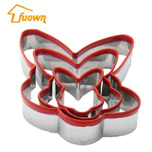 Stainless Steel Butterfly Shape Customized Cookie Cutter Set With Silicone Edge