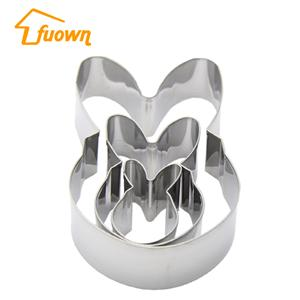 Stainless Steel Cake Cutter Rabbit Shaped Cake Press Mould