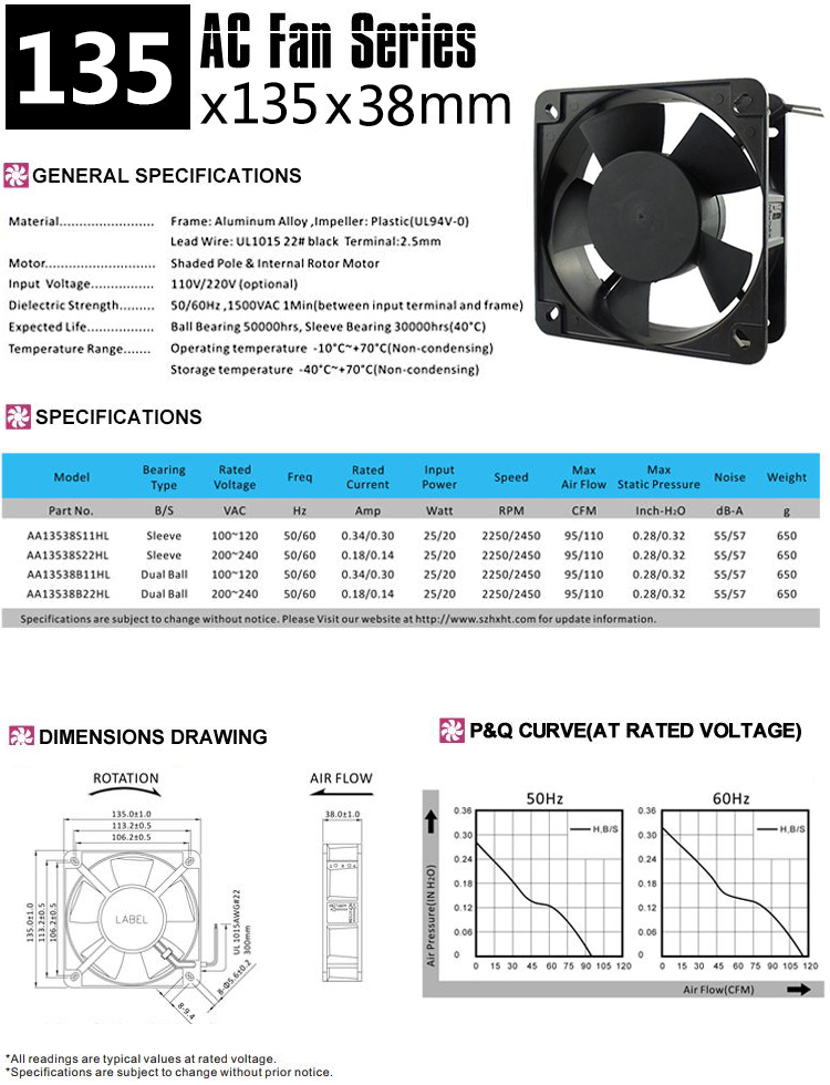 Ac cooling fan 220v