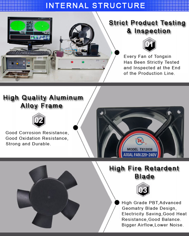 External rotor Ac fan with high quality rotor motor