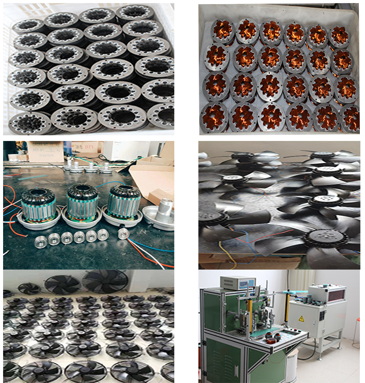 220v pure copper wire external rotor fan