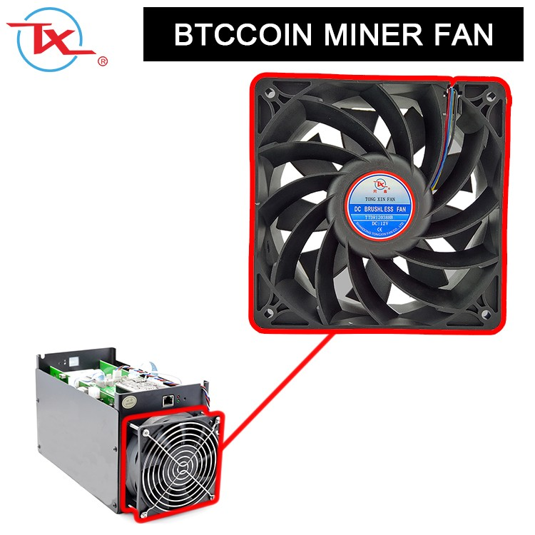120mm Btcooin Miner Dc Brushless Fan