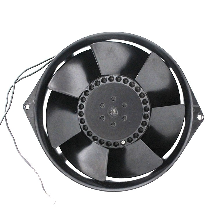 Ventilador de enfriamiento de CA redondo de metal de 170 mm