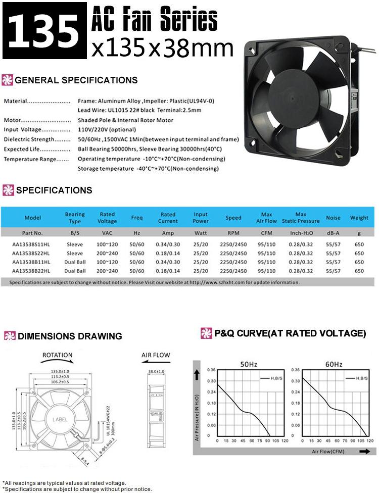 135mm AC cooling fan