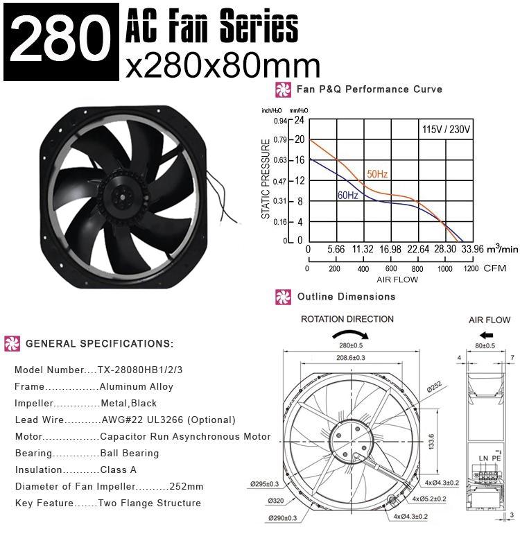 280mm AC cooling fan