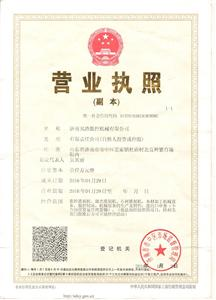 Government license of BETA CNC Router