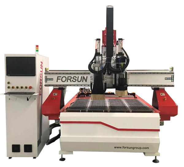 ATC CNC Router with boring head and Rotary Axis