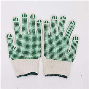 Katoenen werkhandschoenen met rubberen grip-stippen