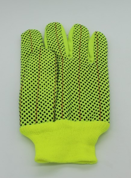 Corduroy Fluorescerend Met PVC Dots Handschoenen Fabricage, Corduroy Fluorescerend Met PVC Dots Handschoenen Company, Corduroy Fluorescerend Met PVC Dots Handschoenen Fabriek