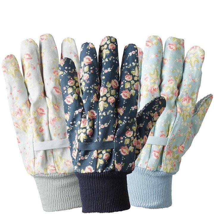 Floral Pattern E Garden Gloves
