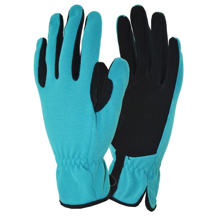 Net blauwe handschoenen