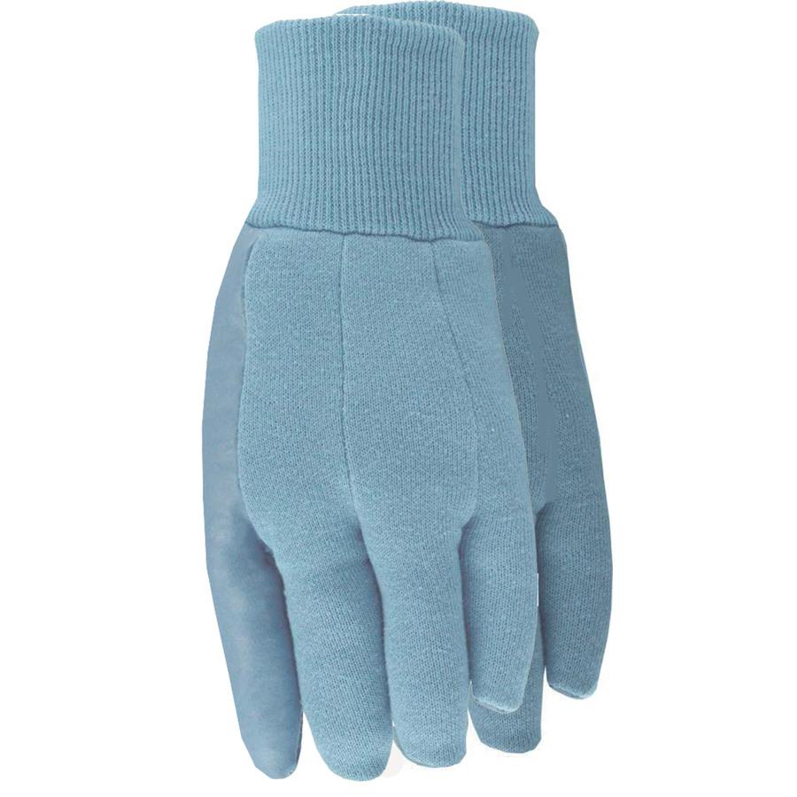 Blue jersey glove