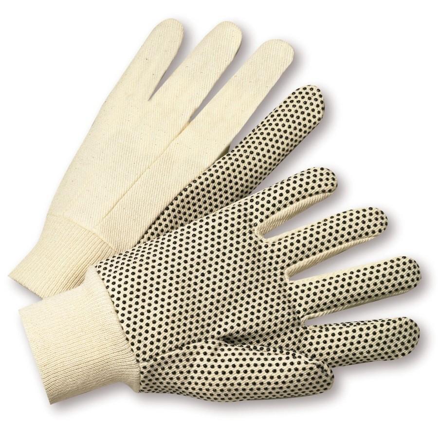 Natuurlijk wit met PVC Dots Glove