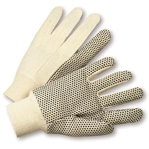 Natural White With PVC Dots Glove
