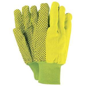 ירוק עם כפפות נקודות PVC