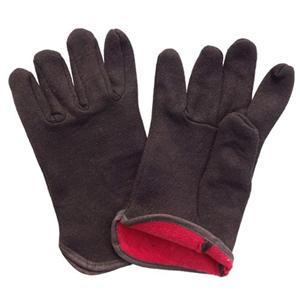 2-Layer Fleece Lined Brown Brown Jersey Glove