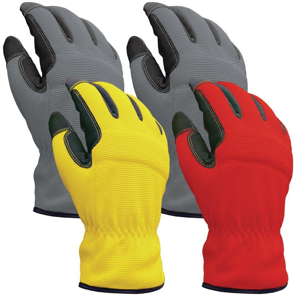 Synthetic Leather Palm Spandex Back Gloves Factory
