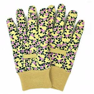 Floral Pattern D Garden Gloves