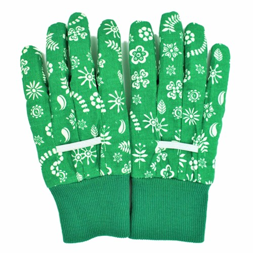 Floral Pattern C Garden Gloves
