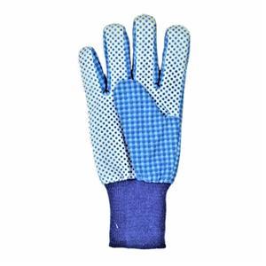 Blue Grids Garden Gloves