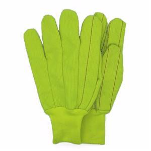 Corduroy Florescent Green Gloves