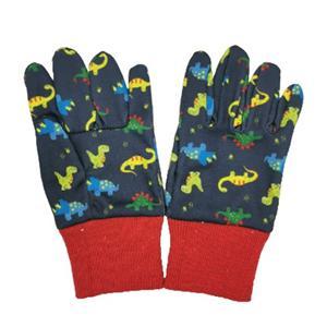 Farbic Woven Floral Print Garden Gloves