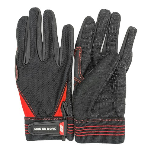 Black red racing gloves