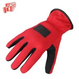 Rode en zwarte mechanische handschoenen