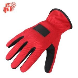 Red and black mechanical gloves