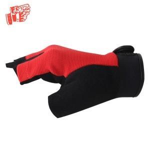 Red black mechanical gloves