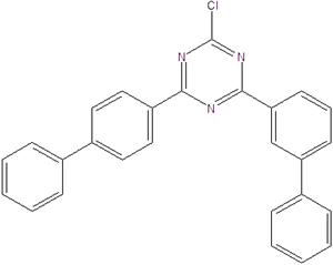 2-Chloro-4- (3-biphenylyl) -6- (4-biphenylyl) -1,3,5-triazine 1621467-35-3