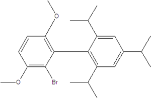 2-bromo-3,6-dimethoxy-2',4',6'-tris(isopropyl)-1,1'-biphenyl 1402393-56-9