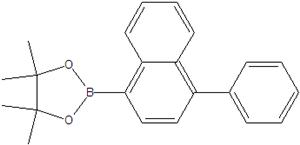 4,4,5,5-tetramethyl-2- (1-phenylnaphthalen-4-yl) -1,3,2-dioxaborolane 1422181-38-1