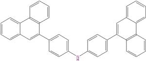 Bis (4- (phenanthren-9-YL) phenyl) amin