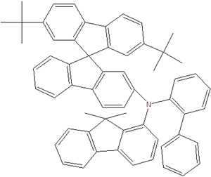 N-(2-biphenyl)-N-(9,9-dimethylindol-2-yl)-2,7-di-tert-butyl-9,9-spirobifluorene-2'-amine