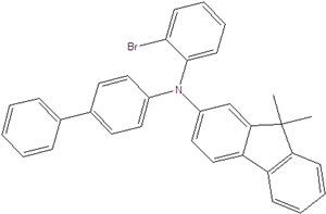 N-(2-bromophenyl)-N-(4-biphenyl)-9,9-dimethylfluorene-2-amine