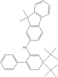 N-(4,4-di-tert-butyl biphenyl-2-yl) -9,9-dimethylfluorene-2-amine