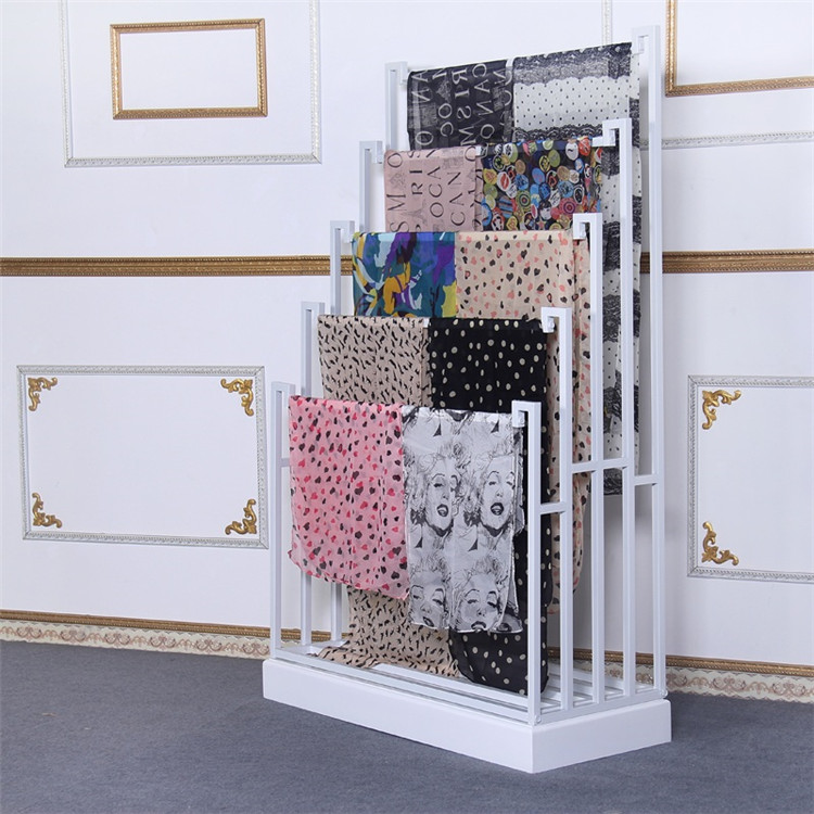 2019 modern customized metal stainess Scarf Display Rack