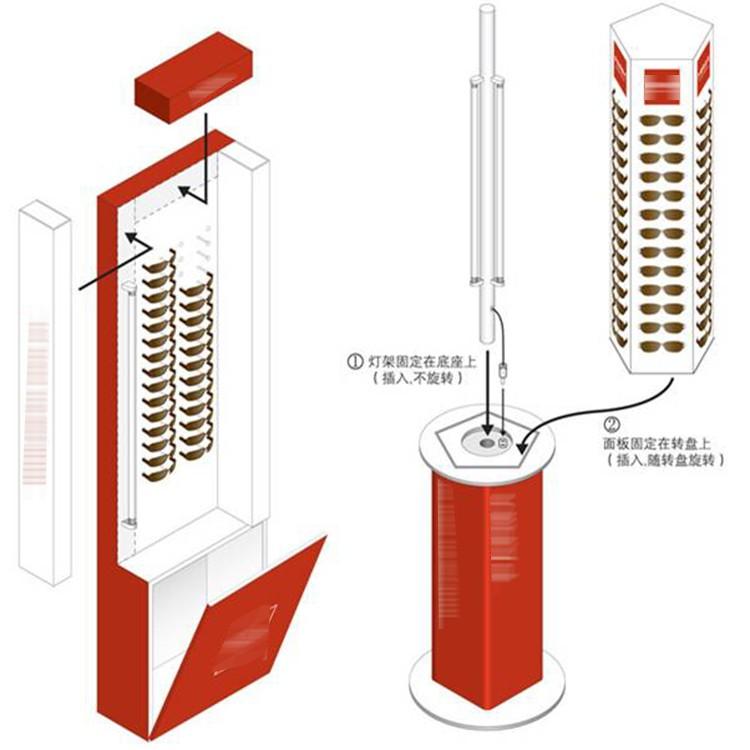 Wholesale Price Newest No Minimum New Design Acrylic Rack Alunimiun Revolving Sunglasses Display Stands Factory China