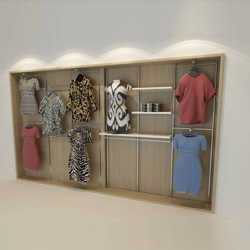 Wall Mounted Apparel Display Stand