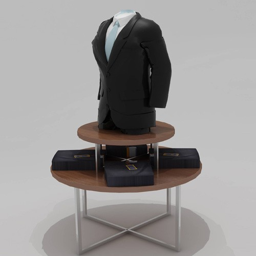 Male Fashion Garment Display Rack