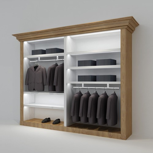 Wall Mounted Clothes Display Stand