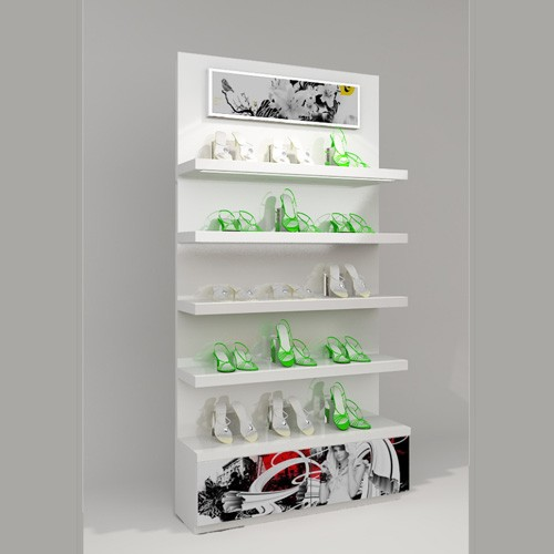 Customized Fashion Shoes Display Shelves