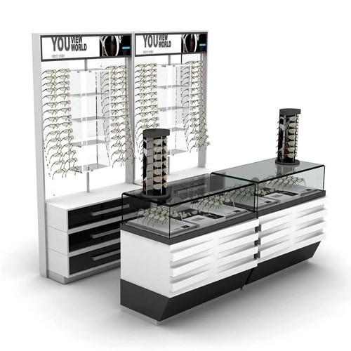 Acrylic Wall Mounted Lockable Sunglasses Glasses Eyewear Display Stand