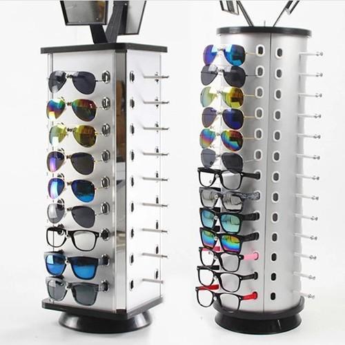 Custom Logo Lockable Rotating Sunglasses Display Stand In Eyewear Shop Decoration Supplier In China