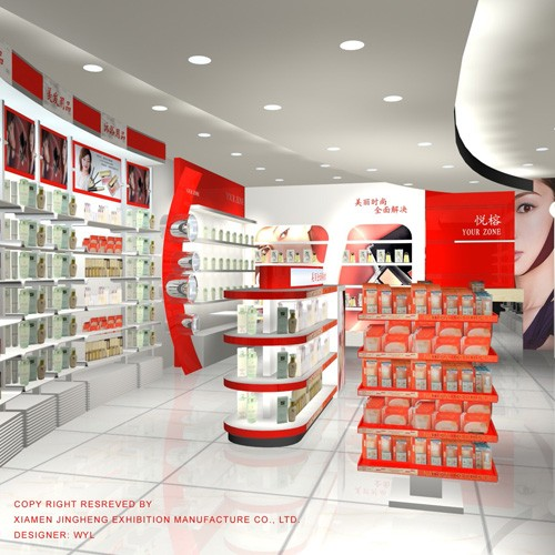 Skin Care Products Display for retail store