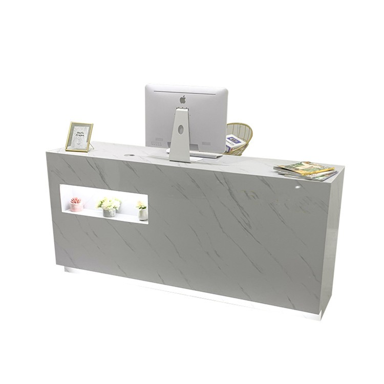 Modern Small Shaped Register Desk Checkout Counter