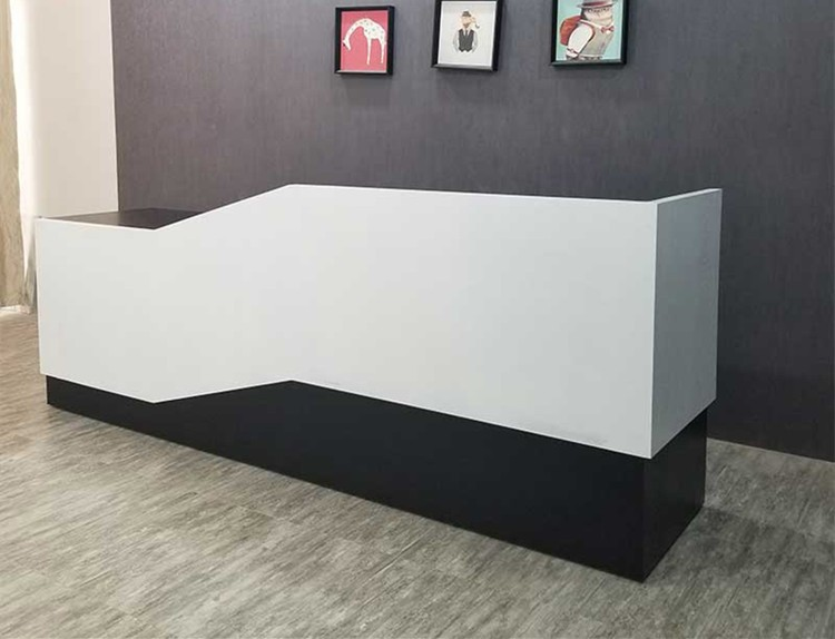 Factory Product Custom Wood Reception Desk Shop Counter Design